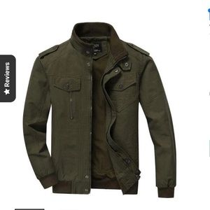 NEW bomber jacket army green classic West Louis